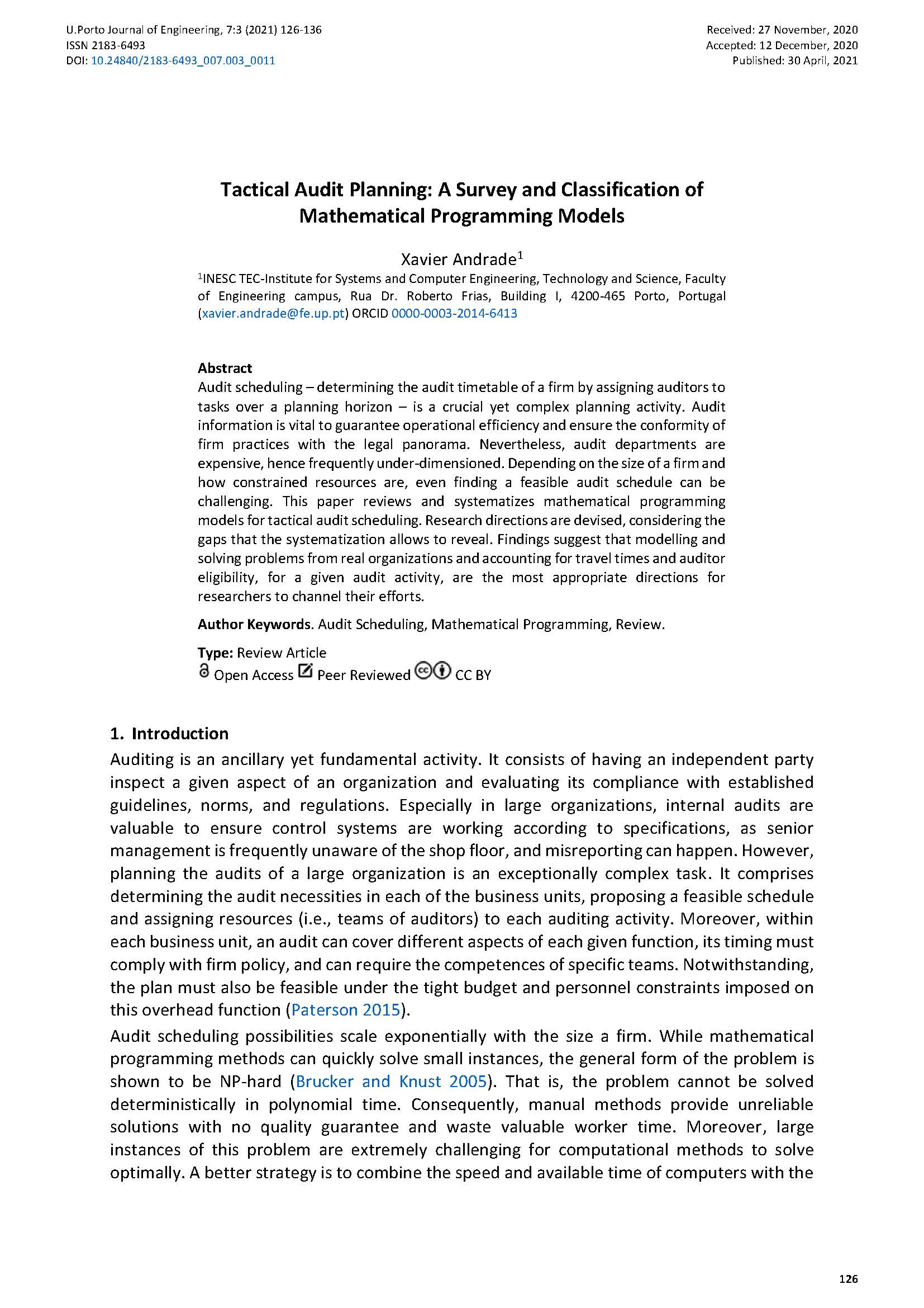 Tactical Audit Planning: A Survey and Classification of Mathematical Programming Models